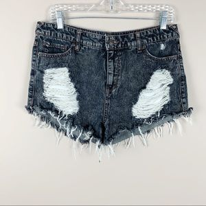 MOSSIMO Hight-Waist Distressed Cutoff Jean Shorts